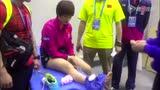 直击丁宁赛后坐轮椅被送医 坦言伤没那么严重