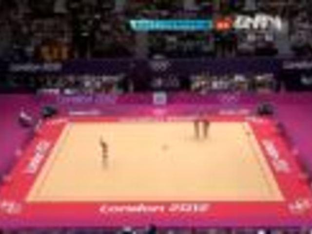 视频:奥运会艺术体操集体全能决赛全场回放