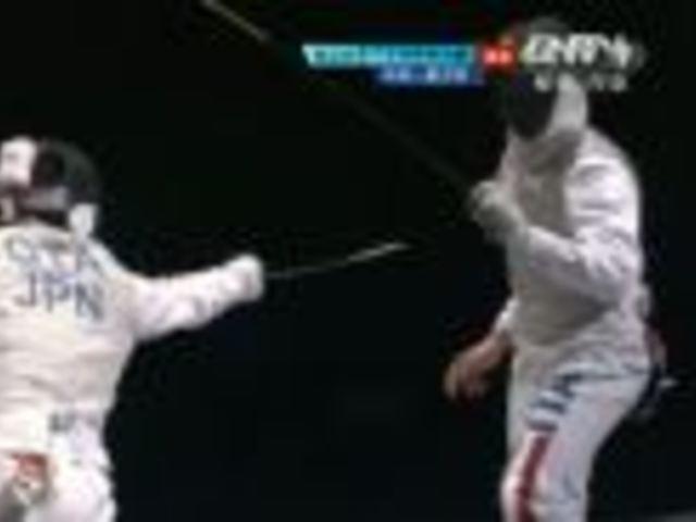 视频:男子花剑团体赛 日本连续得分扳平比分