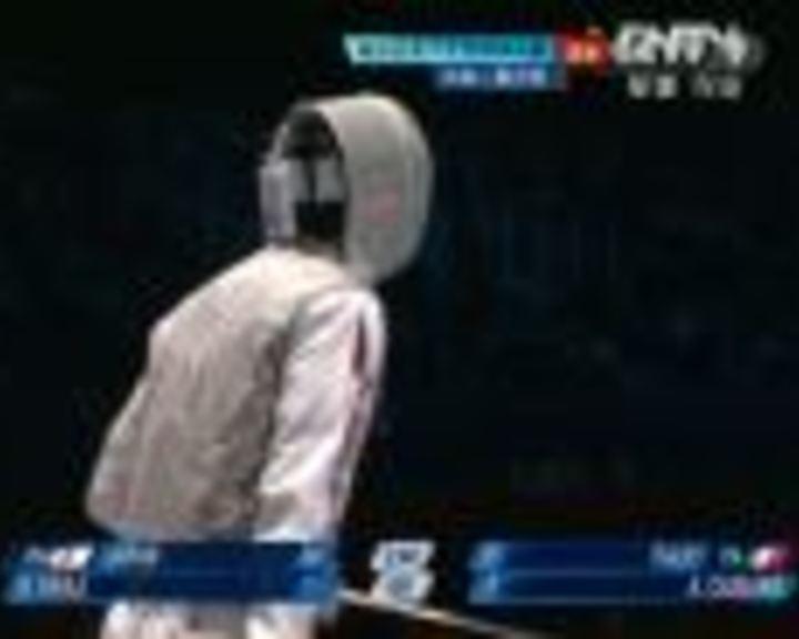 视频:男子花剑团体决赛 意大利VS日本第8局