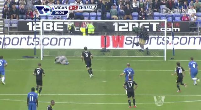 进球视频:哈扎德突破造点球 兰帕德一蹴而就