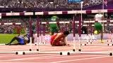 视频:刘翔坐轮椅表情痛苦 下场赢得观众掌声