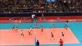 视频:排球女子1/4决赛 日本队扣球进攻出界