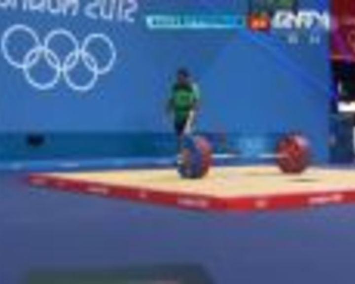 视频:女举75kg以上级挺举 乌斯曼第3举失败