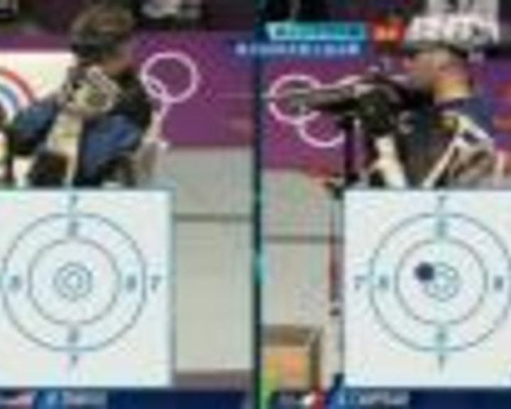 视频:男子50米步枪三姿 朱启南第1枪10.1环