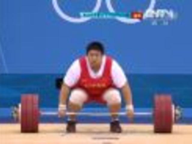 视频:女举75kg以上级 霸气女周璐璐惊险夺金
