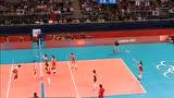 视频:女排1/4决赛 日本强攻中国传接球出界