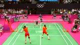 视频:中国队网前大力扣杀成功 再赢得金牌点