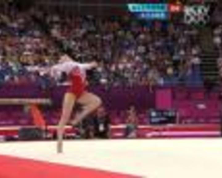 视频:女子自由操决赛 俄罗斯美女选手14.9分