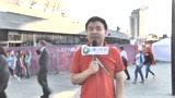 """视频:决赛场外刮中国风 """"中国龙""""挺斗牛士"""