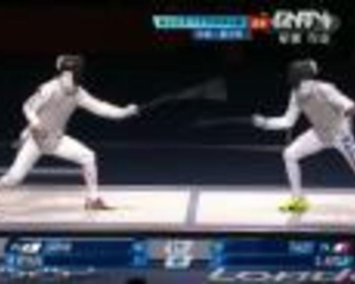 视频:男子花剑团体决赛 意大利VS日本第4局