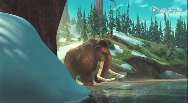 """冰川时代2 片段:树懒老虎""""打地鼠""""截图"""