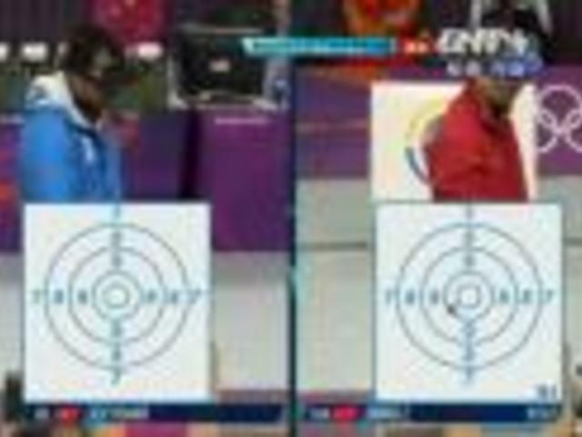 视频:射击男子50米手枪决赛 第7枪王智伟第4
