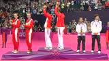 视频:羽毛球男双颁奖仪式 风云组合笑揽金牌