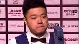 视频:丁俊晖6-5险胜苦主沃顿 进八强战希金斯