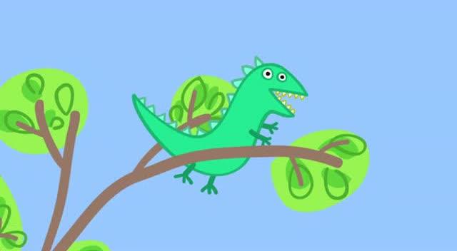 小猪佩奇:乔治把最喜欢的恐龙先生弄丢了,怎么办?