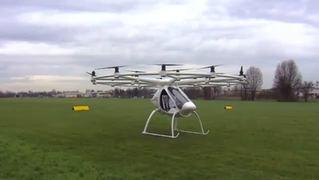 德国的多旋翼载人飞行器,完成了载人飞行