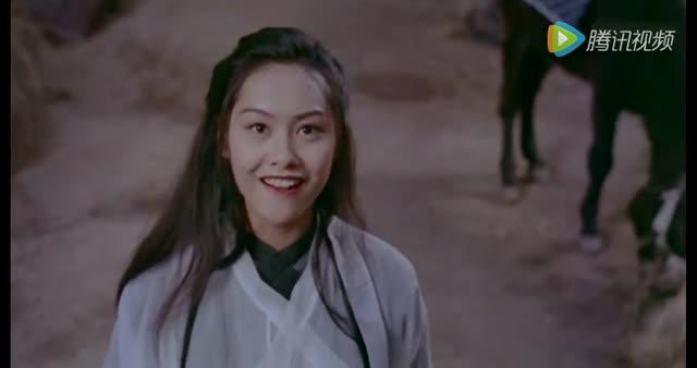 紫霞仙子与至尊宝初次相遇,朱茵不要太漂亮!