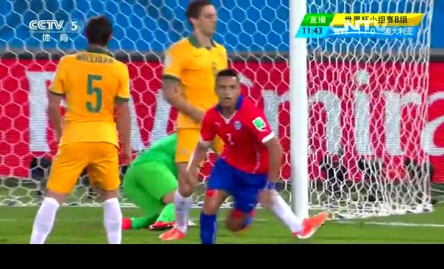 【智利集锦】智利3-1澳大利亚 半场闪电战补时入球截图