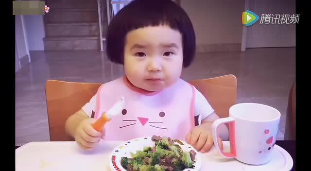 谁家的小孩吃饭不认真