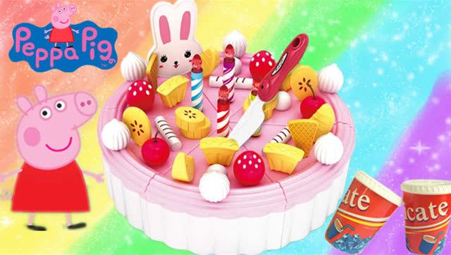 小猪佩奇生日蛋糕过家家 熊出没恐龙礼物图片