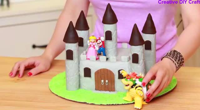 创意手工diy,如此漂亮的城堡蛋糕,让这个生日与众不同!