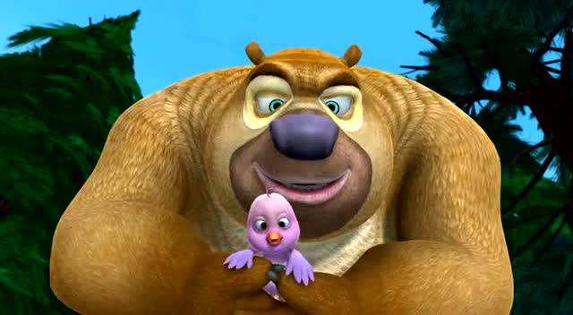 《愤怒的小鸟》光头强惹怒鸟妈妈,熊二照顾鸟宝宝!