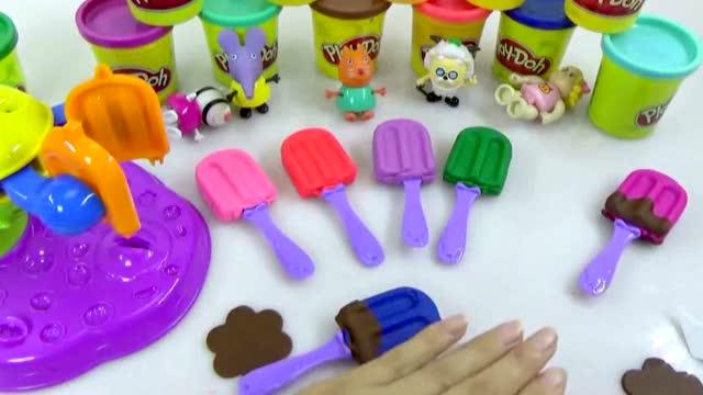 培乐多彩泥玩具冰淇淋 小猪佩奇学习培乐多彩泥橡皮泥制作雪糕