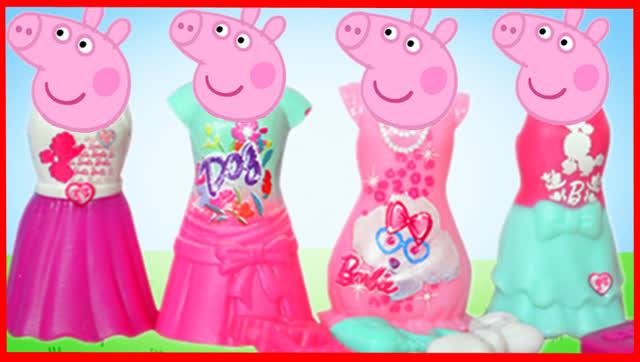 小猪佩奇百变芭比娃娃换装秀过家家
