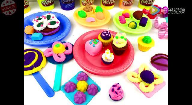 橡皮泥:彩色糖果盒 彩泥蛋糕制作