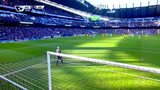 曼城前场反抢精妙配合 博尼阿圭罗打透对方防线射门偏出