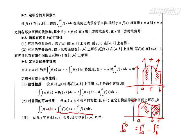 考研数学复习全书配套视频之定积分的概念与基本性质