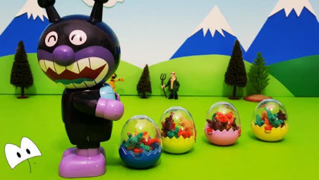 小猪佩奇 恐龙蛋 面包超人玩具