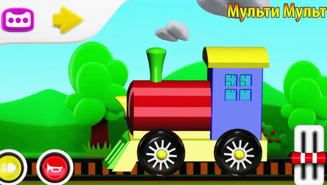 《卡通简笔画—小火车