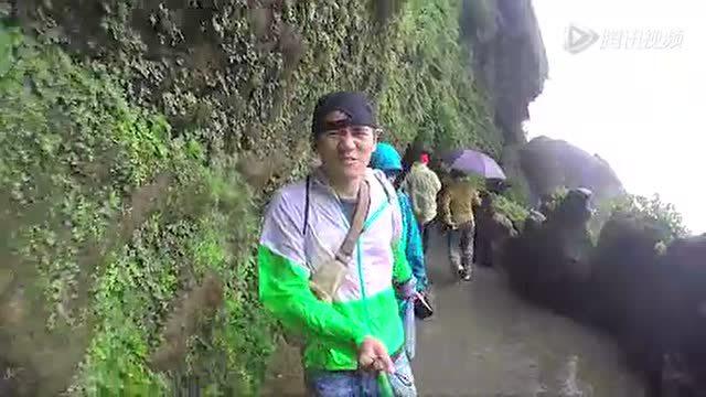 航拍贵州风景区黄果树瀑布 山河秀丽!
