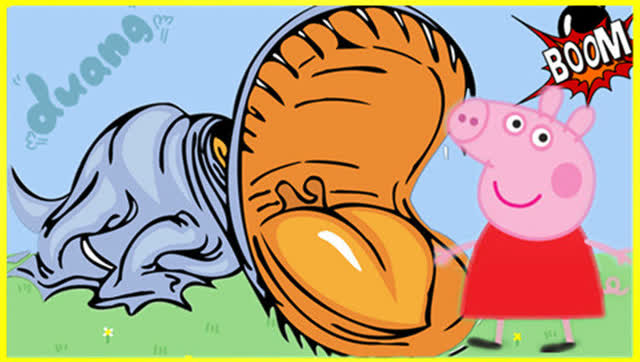 小猪佩奇变身恐龙 粉红猪小妹变形