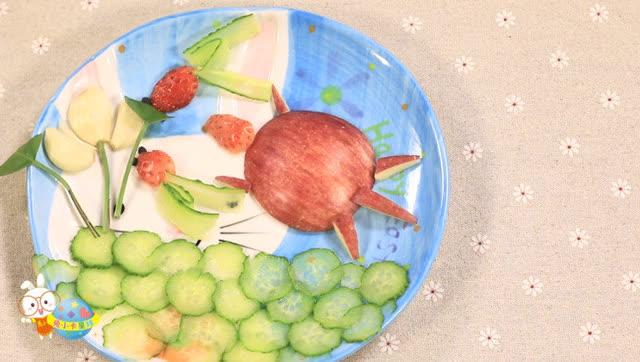 急需水果拼盘图片,要有创意的,最好是小动物或者.