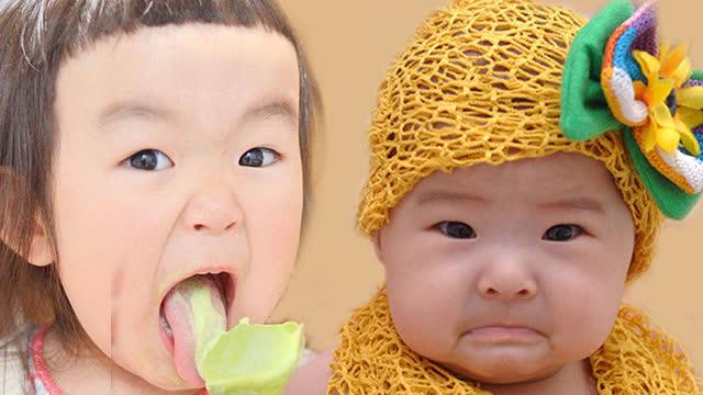 大咖笑料:大眼睛的双胞胎宝宝好可爱!