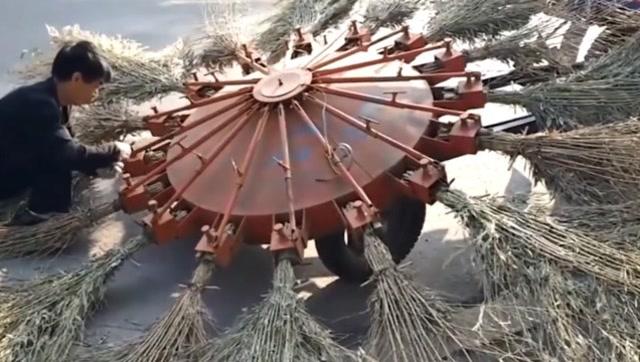 中国生产的扫地神器,装在车尾效率很高