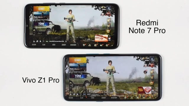 谁吃鸡更顺?Vivo Z1 Pro对照红米Note7 Pro
