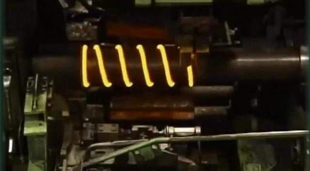 汽车减震器上的弹簧是如何制作的,666!