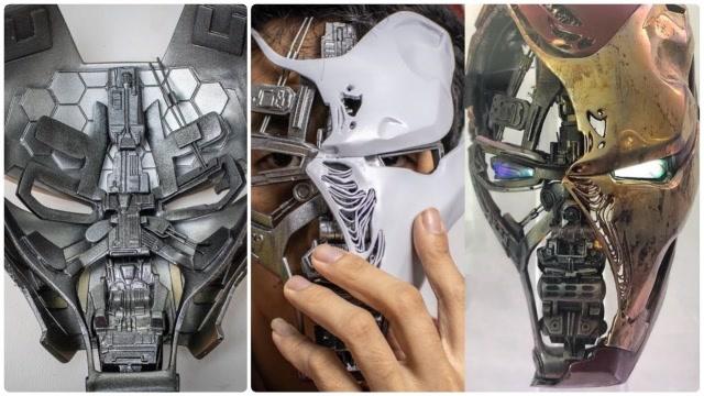 牛人打造真正的鋼鐵俠面具,太酷了