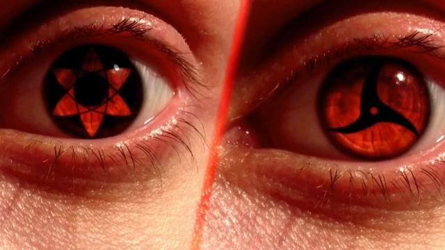 火影忍者真人版写轮眼变化过程,万花筒写轮眼太酷了吧