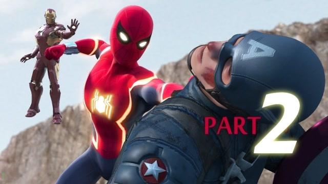 史诗级战斗:蜘蛛侠vs美国队长,蜘蛛侠你又进化了