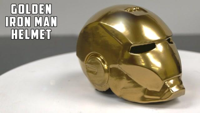 牛人打造世界上最昂貴的黃金鋼鐵俠頭盔,價值4萬美元