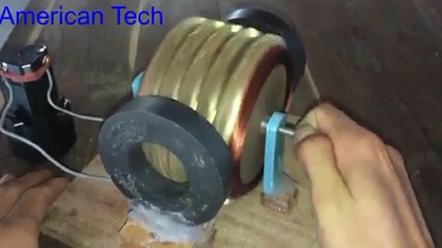 用120个螺丝钉做出一个强力直流电机?这小伙厉害了