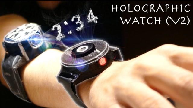 满满的科技感!牛人制作改良版全息智能手表