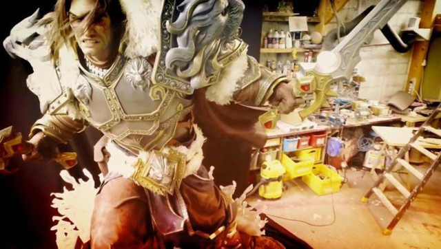 玩家制作《魔兽世界》瓦里安 大型模型
