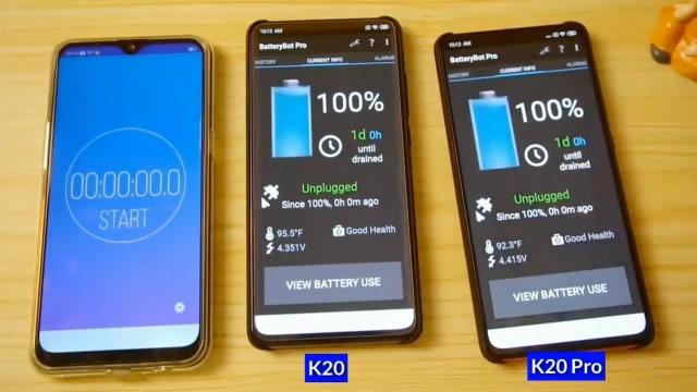 紅米K20系列有多耐用?K20與K20 Pro耗電量對比測試