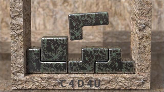 用金属实现俄罗斯方块效果,画面很有冲击力